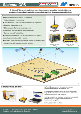 folleto GPS y LASER