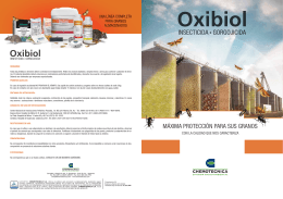 Folleto Oxibiol - Chemotécnica SA