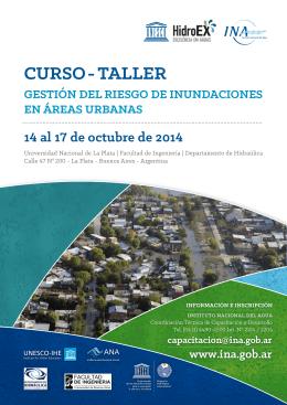 curso - taller gestión del riesgo de inundaciones en áreas urbanas