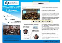folleto comision nacional de jovenes