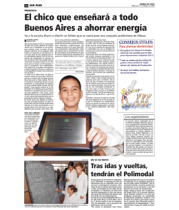 El chico que enseñará a todo Buenos Aires a