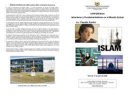 Folleto Conferencia - IMES - Instituto Militar de Estudios Superiores