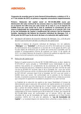 1 Propuesta de acuerdos para la Junta General