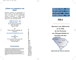 Folleto general de P&A en espanol