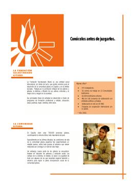 Descarga el folleto - Fundación Secretariado Gitano