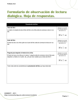 Formulario de observación de lectura dialógica. Hoja de respuestas