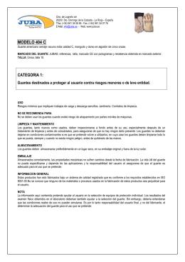 FOLLETO 404 C - ARPROSA Artículos de Protección, SA