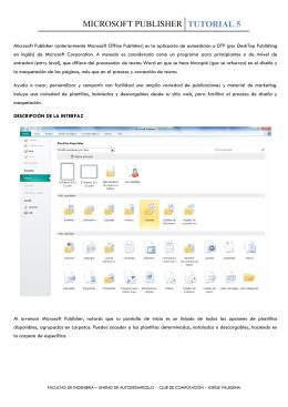 MICROSOFT PUBLISHER - Jorge Alberto Valbuena