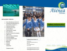Folleto Informativo - bienvenidos a colegio atenea animas sc
