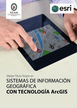 FOLLETO SISTEMAS DE INFORMACIÓN GEOGRÁFICA