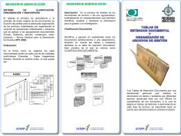 Organización de archivos de gestión