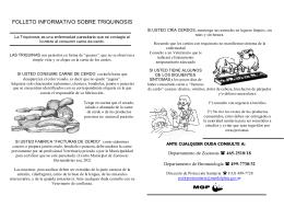 FOLLETO INFORMATIVO SOBRE TRIQUINOSIS