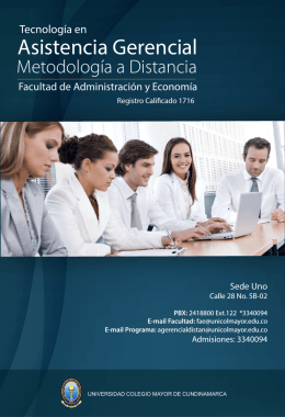 folleto programa - Universidad Colegio Mayor de Cundinamarca