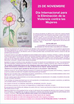 25 DE NOVIEMBRE Día Internacional para la