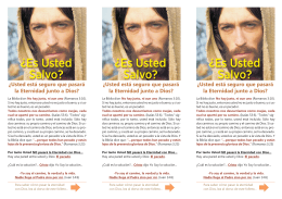 Baje este folleto para Imprimir - Nueva Vida en Cristo
