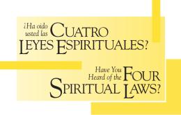 four spiritual laws? cuatro leyes espirituales?