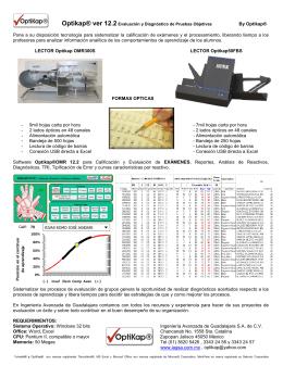 Folleto Optikap Ver 12.2 OMR300S 50FBS Español