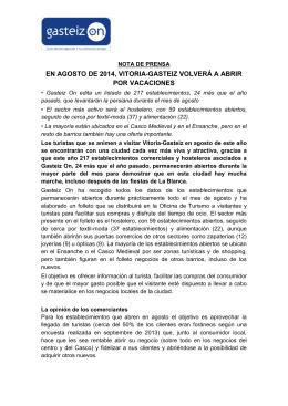 30/07/2014 Comercio activo en agosto