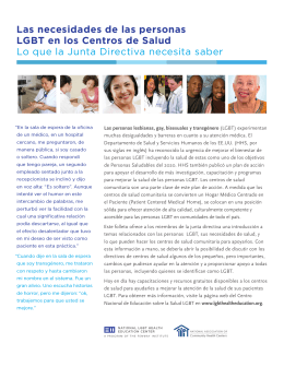 Las necesidades de las personas LGBT en los Centros de Salud Lo