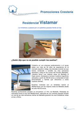 Descarga folleto comercial residencial vistamar