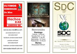 Nvo folleto SDC DF - siervosdecristodf.com.mx