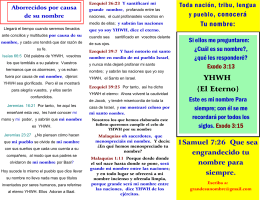 folleto de el nombre de yhwh