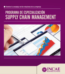 Folleto Digital Supply Chain Management