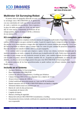 folleto informativo del Surveying-Robot