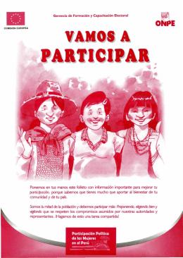 Ponemos en tus manos este folleto con información importante para
