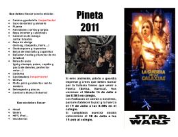 folleto Pineta 2011 - Grupo Scout X El Pilar