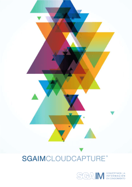 Portada folleto SGAIM Cloud Capture send