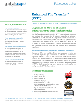 Folleto de datos Enhanced File TransferTM (EFTTM)