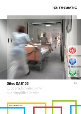 Ditec DAB105 El operador inteligente que simplifica la vida