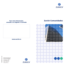 folleto seguro comunidades Zurich