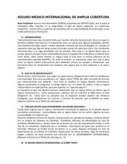 seguro medico internacional de amplia cobertura