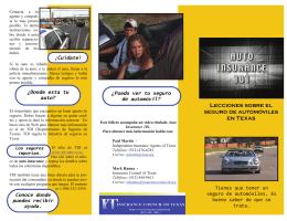 Lecciones sobre el seguro de automóviles en Texas