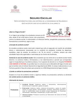Seguro Escolar - Universidad de Salamanca