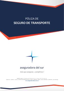 SEGURO DE TRANSPORTE - Aseguradora del Sur