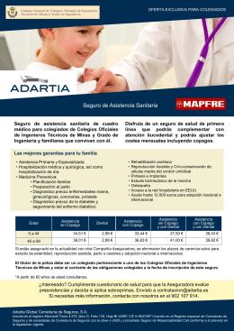 Seguro de Asistencia Sanitaria - Consejo General de Colegios