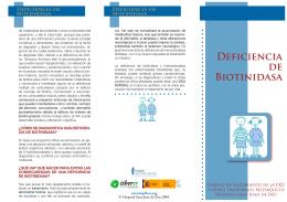 Deficiencia de Biotinidasa