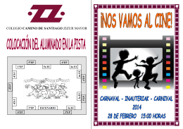 Folleto carnaval 2014 - `camino de santiago` :: zizur mayor