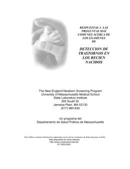 deteccion de trastornos en los recien nacidos