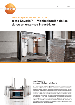 Folleto Saveris Industria
