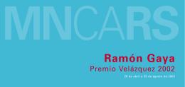 Folleto de Ramón Gaya. Premio Velázquez 2002