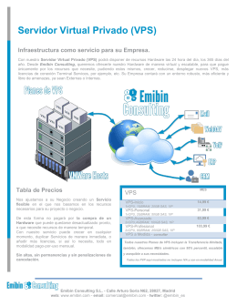 Folleto Servidor Virtual Privado En Emibin