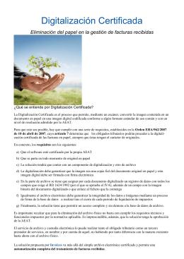 folleto de Certificación