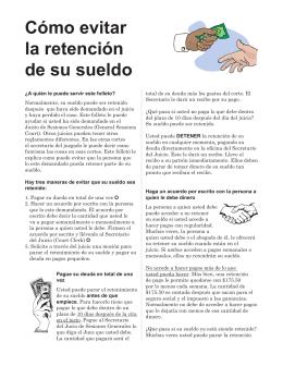Cómo evitar la retención de su sueldo