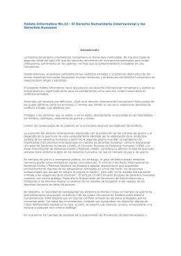 Folleto Informativo No.13 - El Derecho Humanitario Internacional y