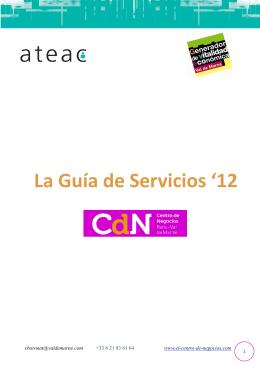 Folleto Servicios 2012
