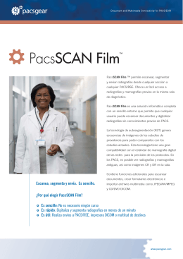 Folleto PacsSCAN Film